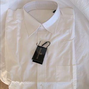 Bugatchi Solid Regular Fit Dress Shirt
